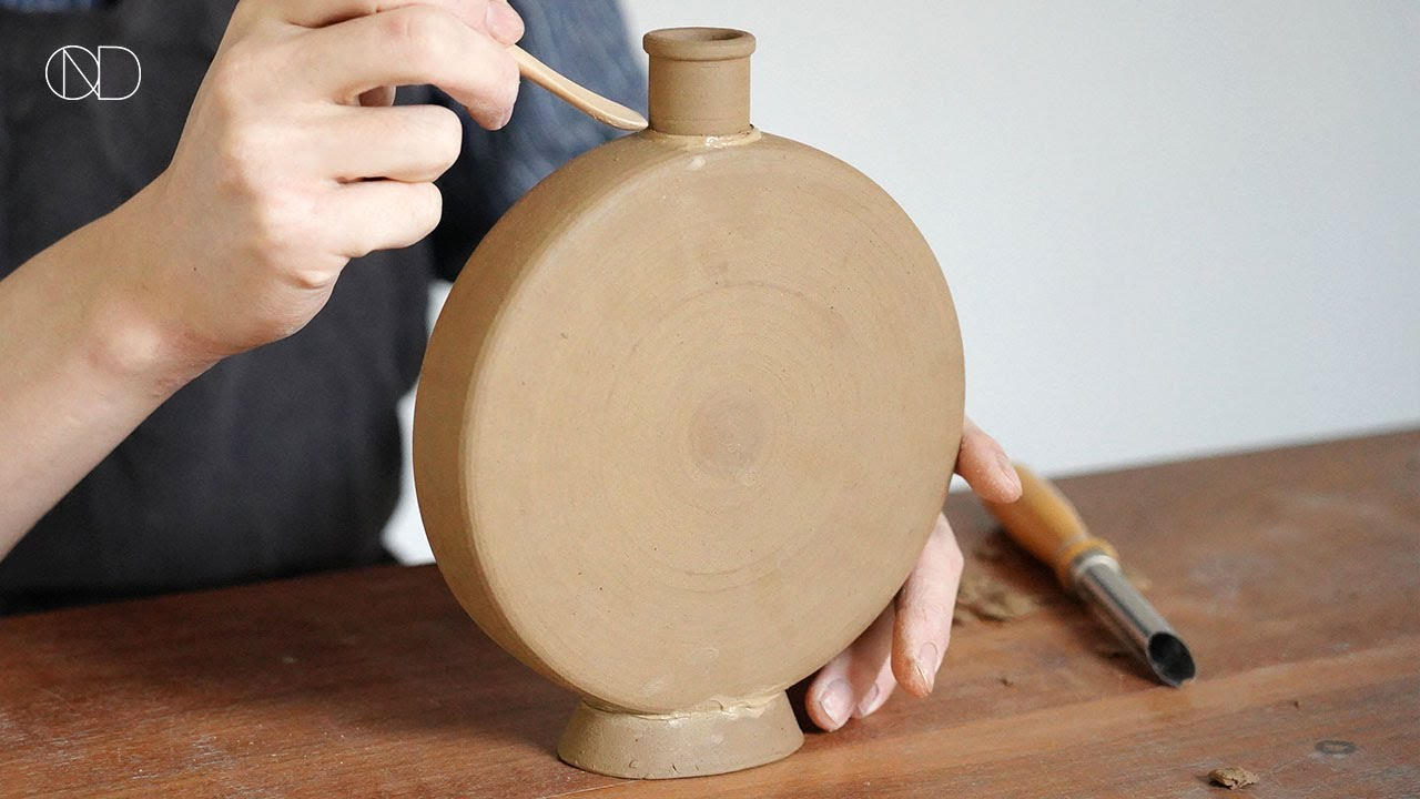 도자기 '편병' 만들기 : How make a ceramic Flat Bottle  [ONDO STUDIO]
