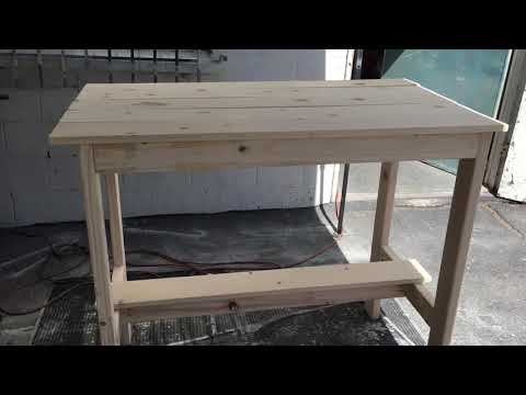DIY How to build a Great Looking Wood Pub Table, Fast, easy, cheap. All skill levels.