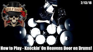 How to Play - Guns N' Roses - Knockin' On Heavens Door - (Drums Only) (4K)
