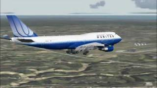 United Airlines flight 837 arrives in Tokyo (FS2004)