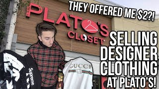 SELLING MY DESIGNER/HYPEBEAST CLOTHING TO PLATO'S CLOSET!