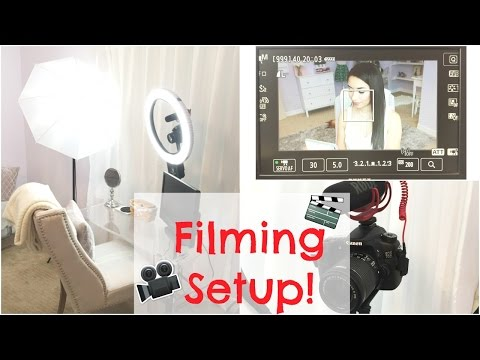 YouTube Filming Set Up and Camera Settings For Beauty Videos
