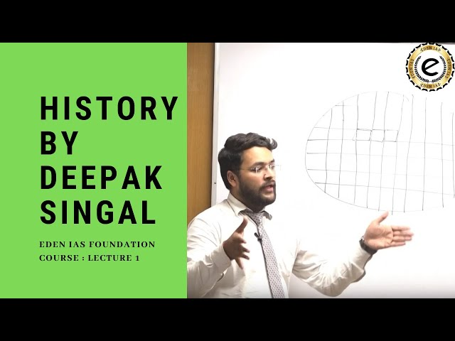 Ancient Indian History class for UPSC / IAS Exam by Mr. Deepak Singhal . EDEN IAS Foundation class 1