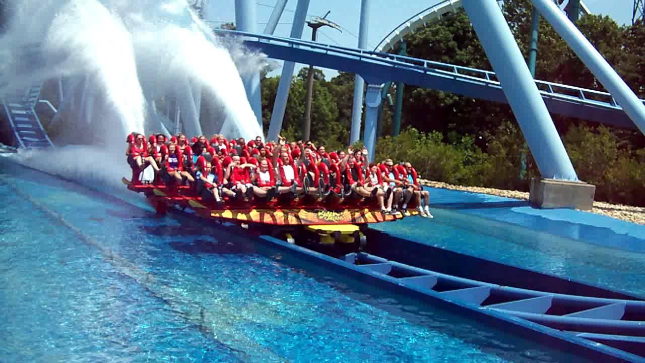 The Griffon Roller Coaster At Busch Gardens Hitting The