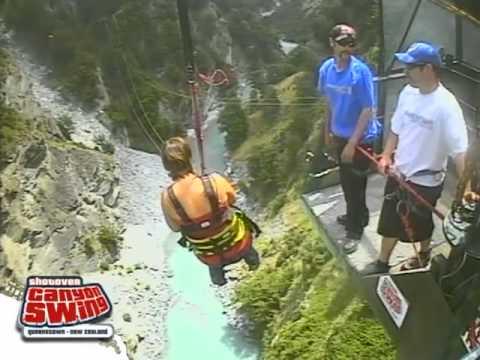 Mieke's Shotover canyon swing
