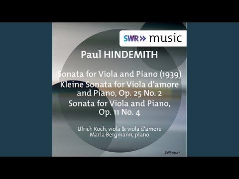 Viola Sonata, Op. 11 No. 4: I. Fantasie. Ruhig
