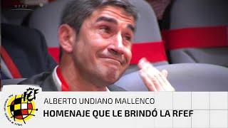 Así fue la reacción de Alberto Undiano Mallenco al homenaje que le brindó la RFEF en su Asamblea