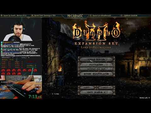 Diablo 2 - Hell Hardcore Amazon Speedrun! WR Attempt (12/20/2017)