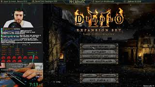 Diablo 2 - Hell Hardcore Amazon Speedrun! WR Attempt (12/20/2017)
