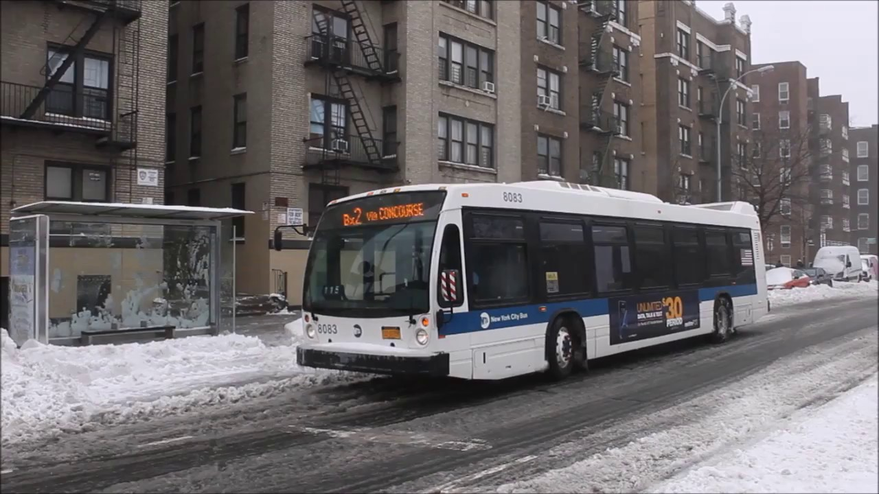 Mta New York City Bus Novabus Lfs 8083 On The Bx2 Youtube