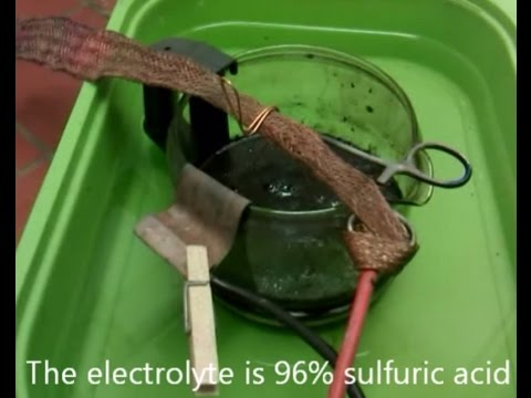 Sulfuric stripping cell for gold recovery