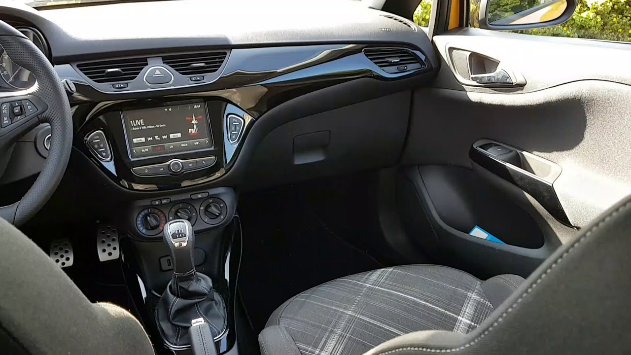 opel corsa e 2017 opc line interieur youtube. Black Bedroom Furniture Sets. Home Design Ideas
