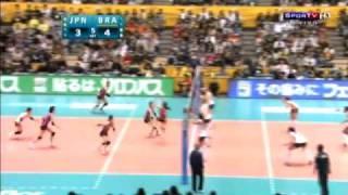 Semifinal 5 SET Parte 1 Mundial feminino de vôlei 2010 Brasil vs Japão