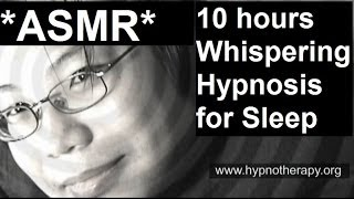 ASMR 10 hours whispering hypnosis for sleep and relaxation -  Male voice (Hypnotist Bernie)
