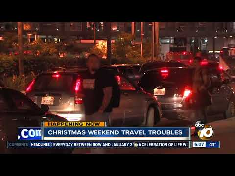 Christmas weekend travel troubles in San Diego
