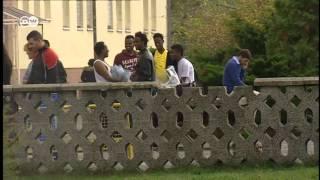 Лагеря по приему беженцев в Германии переполнены