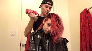boyfriend dyes my hair *emotional* *tragic* *good tho actually*