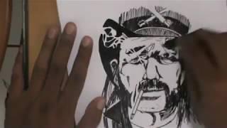 Drawing, Sketching Lemmy Kilmister MOTORHEAD