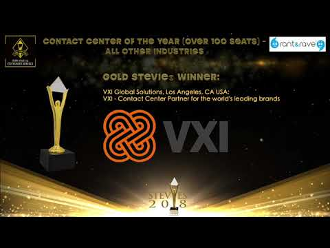 VXI Global Solutions wins a Gold Stevie® Award in the Stevie Awards for Sales & Customer Service