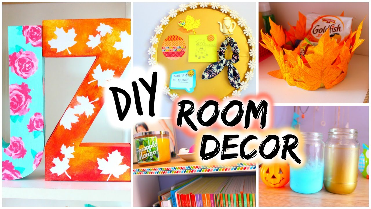 Bedroom Decor Homemade diy: room decor for fall | spice up your room - youtube