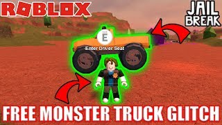 FREE MONSTER TRUCK GLITCH | Roblox Jailbreak Mythbusters