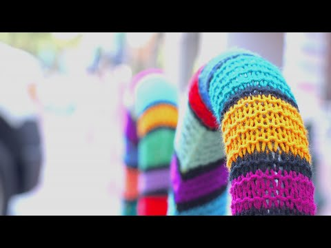 The Yarn Bombing of Main Street Columbia