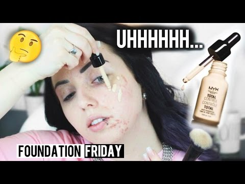 Thumbnail: NEW NYX TOTAL CONTROL DROP FOUNDATION Acne/Pale Skin {First Impression Review & Demo!}