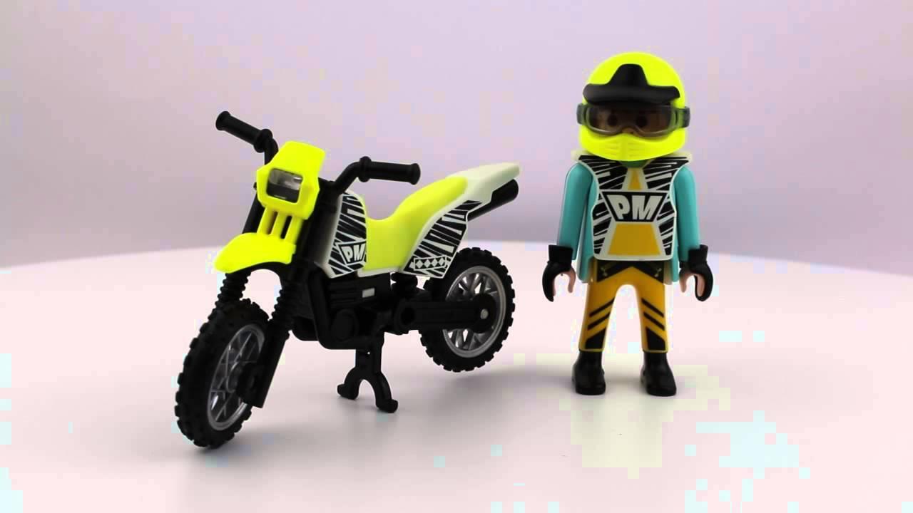 Playmobil sammelbikes 5525 cross bike youtube - Moto cross playmobil ...