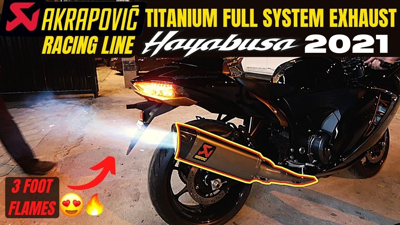 FLAMETHROWER HAYABUSA 2021😍🔥    NEW AKRAPOVIC EXHAUST!!!