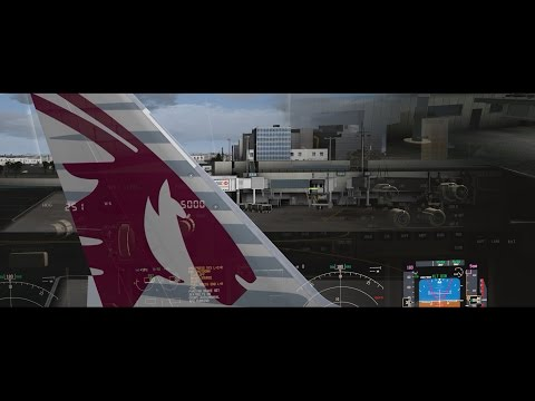 FSX | 15 Hour Ultra Long Haul | Los Angeles to Doha | Qatar 777-200LR