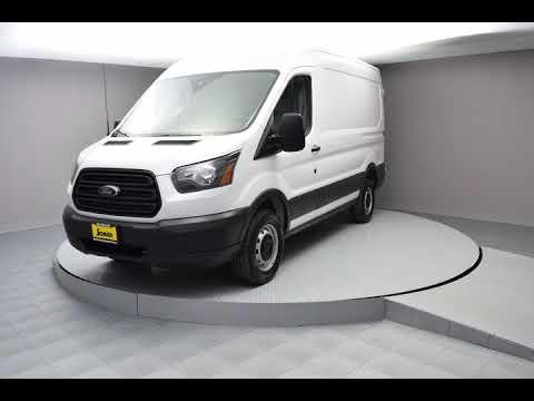 2018 Oxford White Ford Transit-250 3D Medium Roof Cargo Van #JKB20629