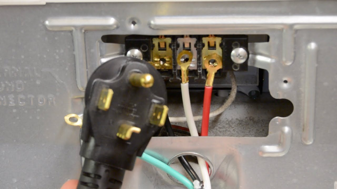 How To Change A Dryer Cord Changing A 3 Prong To A 4 Prong Plug Youtube