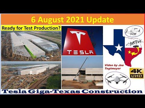 Tesla Gigafactory Texas 6 August 2021 Cyber Truck & Model Y Factory Construction Update (07:30AM)