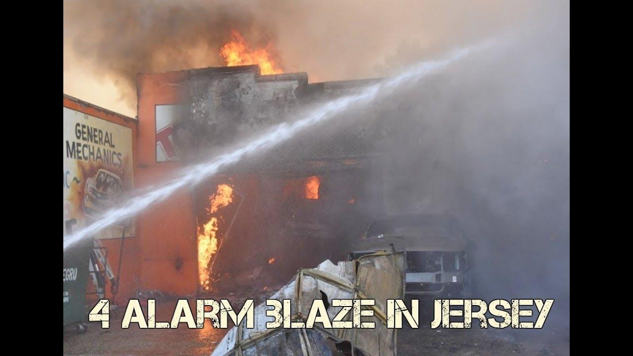 BREAKING NEWS - 4 Alarm Fire in Jersey City Heights as Gas Line Ruptured!  (Viggo Bauman)