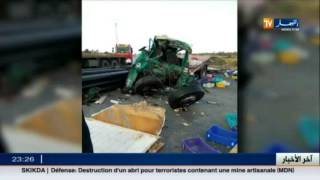 حادث مرور يخلف قتيلان بالطريق الوطني رقم 03 بالوادي