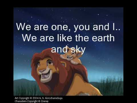 Lion King 2-We are one w/ Lyrics