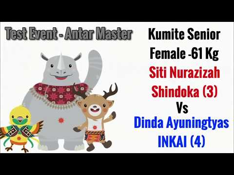 Siti (Shindoka) Vs Dinda (INKAI)  Kejuaraan Antar Master/Test Event Asian Games 2018