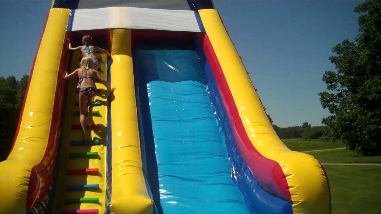 how to make a massive water slide jump