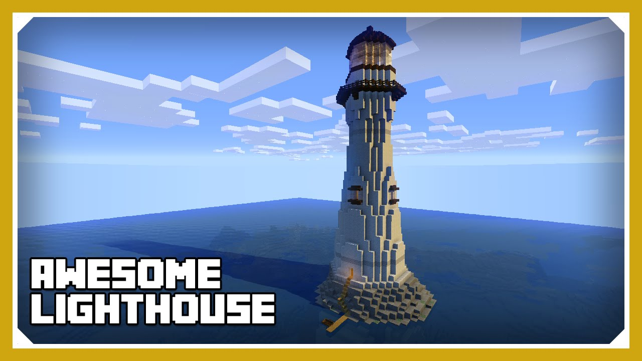 Minecraft how to build a lighthouse tutorial survival for How to light a house