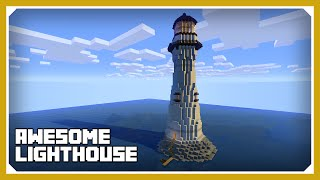 Minecraft: How To Build A Lighthouse Tutorial (Survival Minecraft Build )