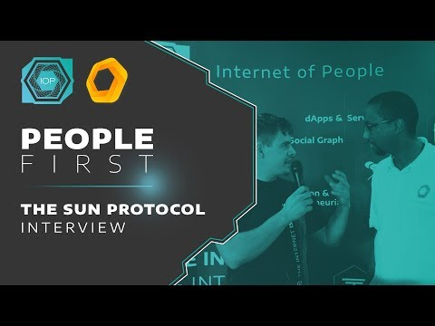 The Sun Protocol Interview - People First Conference 2018 | Internet of People