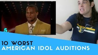 Voice Teacher Reacts to American Idol - Ten Worst Singers Ever - Stafaband