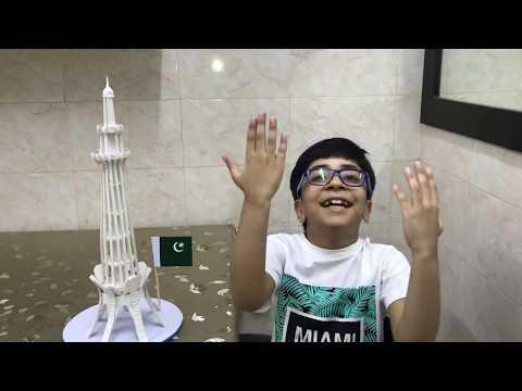 How To Make A Tower/ Diy Minar e Pakistan Model