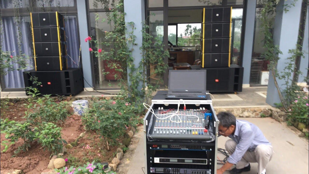 Lắp đặt dàn âm thanh sân khấu ngoài trời loa Array 110 Triệu Tại Ba Vì-Hà Nội. LH 0934554129