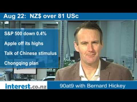 90 seconds at 9 am:  NZ$ over 81 USc (news with Bernard Hickey)