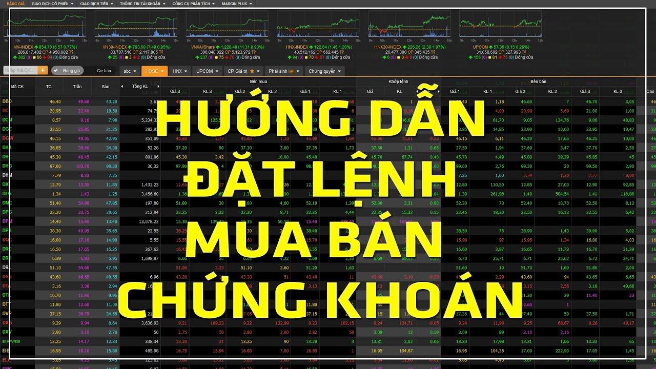 Hướng dẫn đặt lệnh mua bán chứng khoán