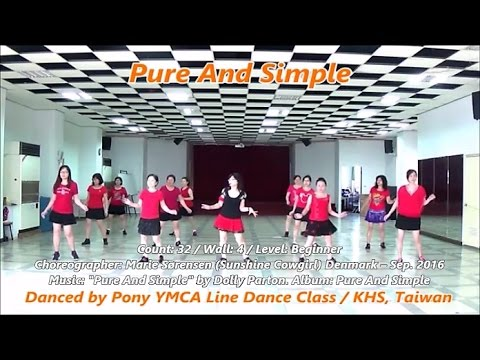 Pure And Simple (by Marie Sørensen) - Line Dance (demo & Walkthru) = 單純 - 排舞(含導跳)
