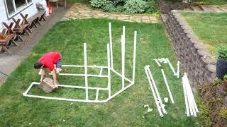 Mini PVC Pipe Green House Build