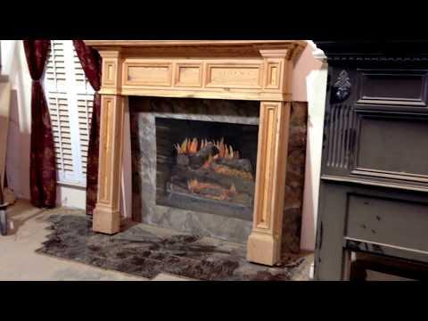 Antique Heart Pine Mantel - Custom Fireplace Mantels (Fontana)