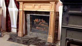 Antique Heart Pine Mantel - Custom Fireplace Mantels